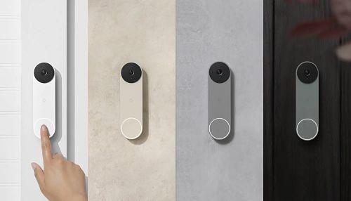 Nest doorbell in four colors